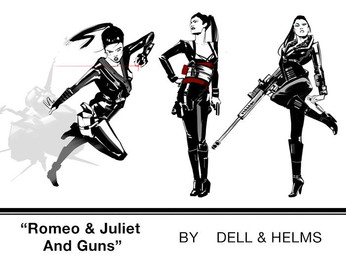 "Comic Book ""ROMEO AND JULIET & GUNS"" by Emily Dell"