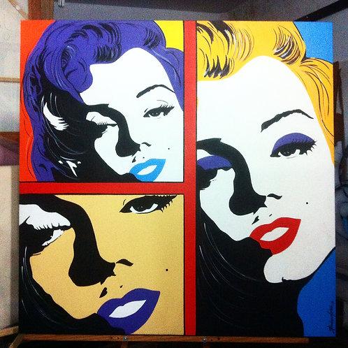 Pintura Marilyn 6 ( tamanho 100x100cm )