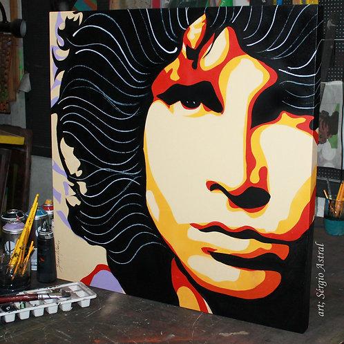 Pintura Jim Morrison 3 (tamanho 70x87cm)