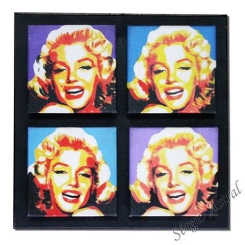 Pintura Marilyn Monroe  ( 4 telas, tamanho 30x30 )
