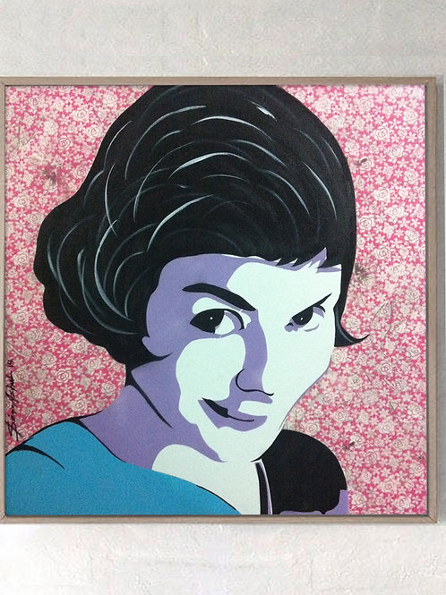Pintura Amélie Poulain  (tamanho 70x70cm)
