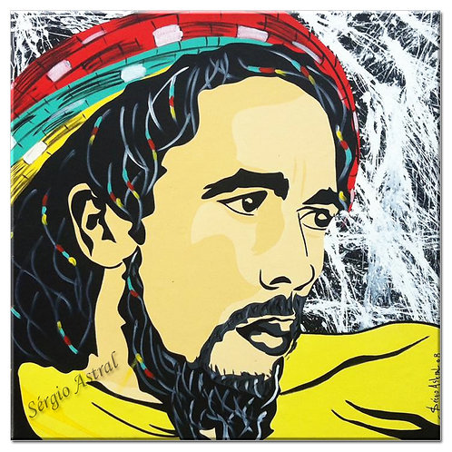 Pintura Bob Marley (  tamanho 70x70 )