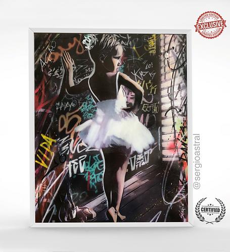 Menina Bailarina Branca 56x70