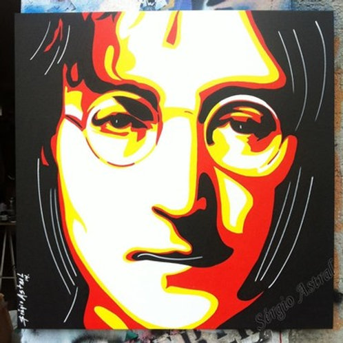 Pintura Jhonn Lennon ( tamanho 70x70 )