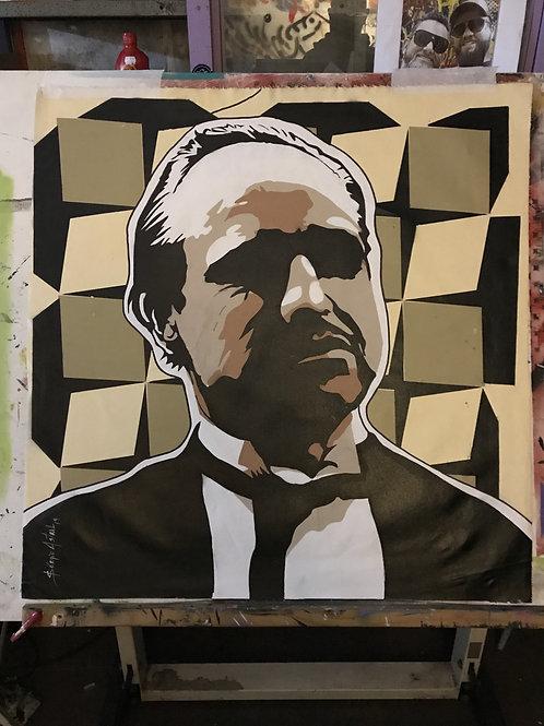 Pintura Marlon Brando - Sérgio Astral
