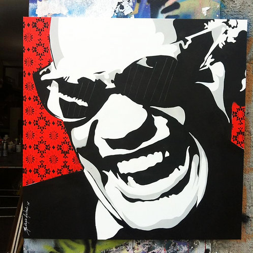 Pintura Ray Charles  (Peça única no tamanho 70x70)