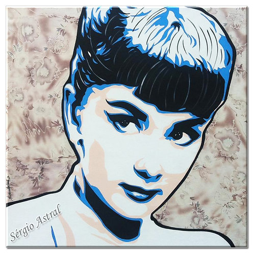 Pintura Audrey  ( tamanho 80x80 )