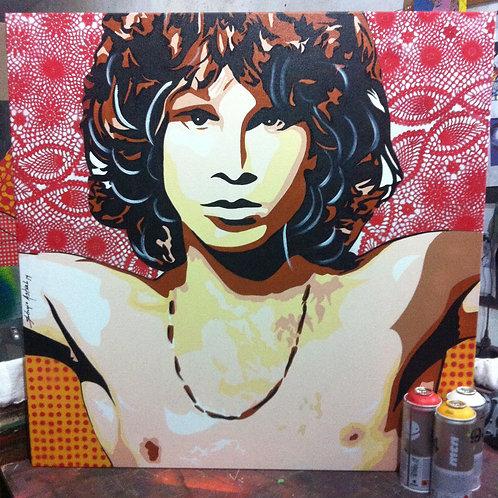 Pintura Jim Morrison  (tamanho 80x80cm)