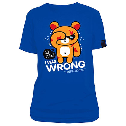 SERIOUS KUMA(WRONG) BLUE T-SHIRT