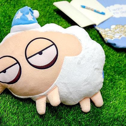 Unsleep Sheep Plush Pillow (White)