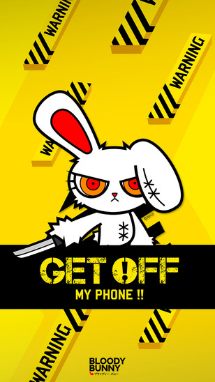 Mobile Wallpaper Bunny 2spotdesign