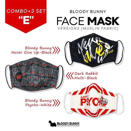 Bloody Bunny Face Mask ( Set:E / 3 Pcs)
