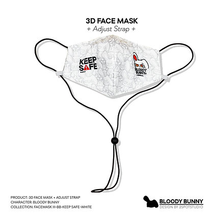 Bloody Bunny (Keep Safe) Face Mask with Adjustable Strap