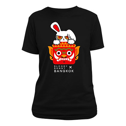 BLOODY BUNNY(BKK GIANT) BLACK T-SHIRT