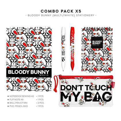 GIFT SET: BLOODY BUNNY STATIONERY (MULTI/WHITE)