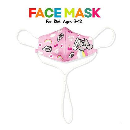 MUMU FACE MASK KIDS (HAPPY / PINK)