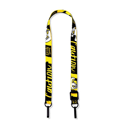 BLOODY BUNNY MASK STRAP PRINT (CAUTION/YELLOW)