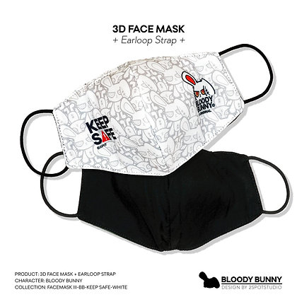 Bloody Bunny (Keep Safe) Face Mask Earloop Strap V.3