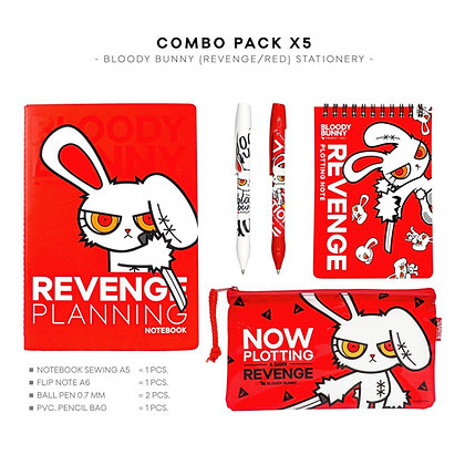 GIFT SET: BLOODY BUNNY STATIONERY (REVENG/RED)
