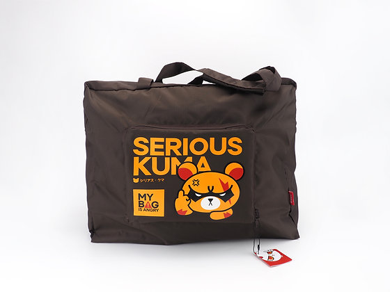 FOLDABLE BAG : Serious Kuma