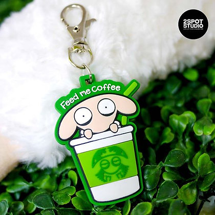 Unsleep Sheep Keychain ( Green )