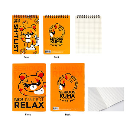 Serious Kuma Notebook Set