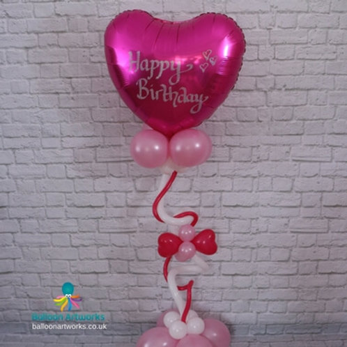 Balloon heart bouquet - personalise with your message