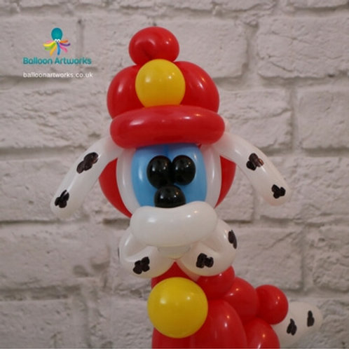 Fire marshall balloon dog decoration