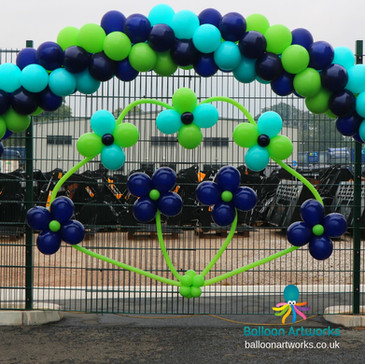 Balloon flower display Derbyshire Balloo