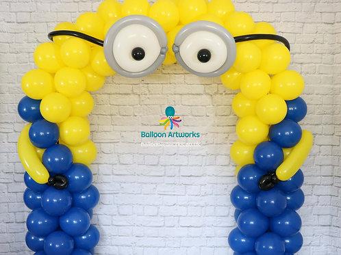 Minions balloon arch