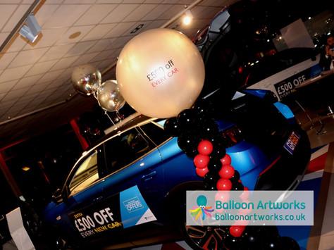 Car balloon decorations Bristol Street M