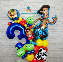 Toy Story Balloon Bouquet - 3rd Birthday Balloon Bouquet