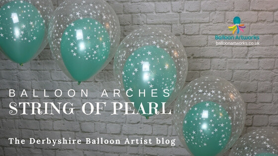 Double bubble balloon arch The Derbyshire Balloon Artist blog