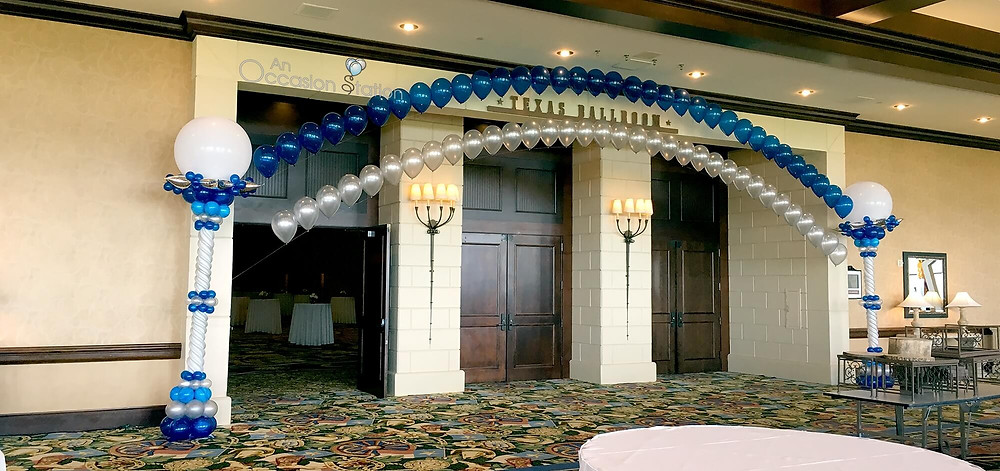 Double stranded string of pearl balloon arch by An Occasion Station