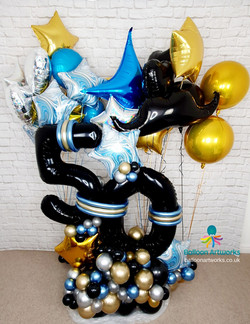 50th birthday balloon display - balloons delivered Nottinghamshire and Derbyshire by Balloon Artwork