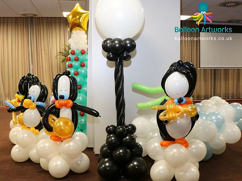 Balloon penguin brass band