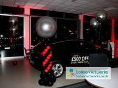 Car showroom VIP event balloon decoratio