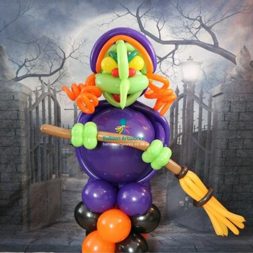 Giant Halloween balloon witch