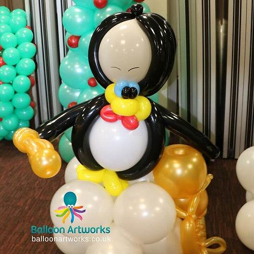 Penguin balloon tuba player