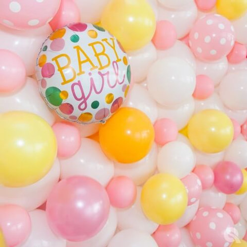 Baby shower balloon wall