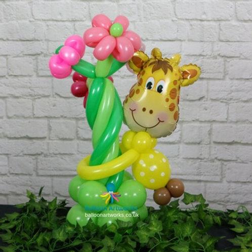 Giraffe balloon flower bouquet