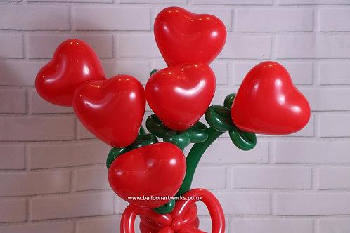 Balloon heart bouquet