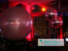 Car Showroom balloons Bristol Street Mot