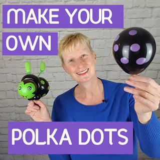 Custom-made polka dot balloons