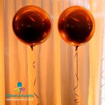 Gold round metallic balloons Derbyshire
