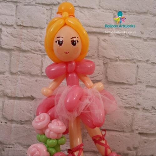 Ballerina balloon centrepiece