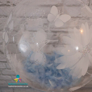 Feather filled balloon Balloon Artworks Derby Nottingham Chesterfield Ripley Alfreton Belper Heanor Eastwood Swanwick.jpg