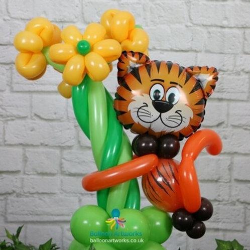 Tiger balloon centrepiece