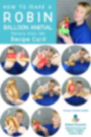 Robin balloon animal recipe Balloon Artw
