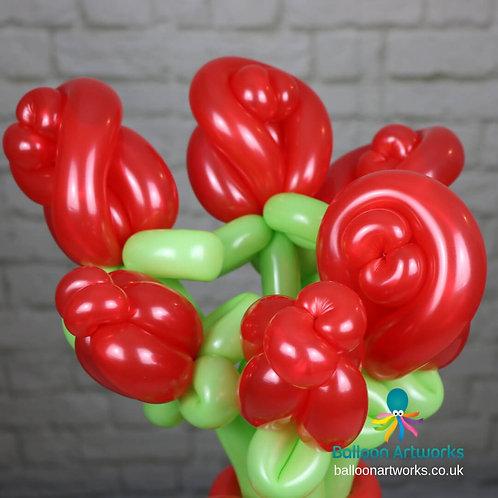 Valentine's Day balloon rose bouquet